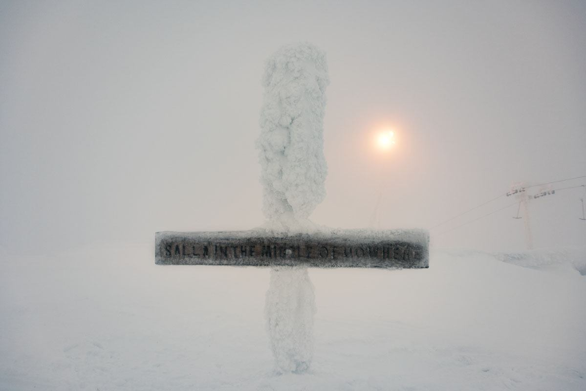 salla in the middle of nowhere sign