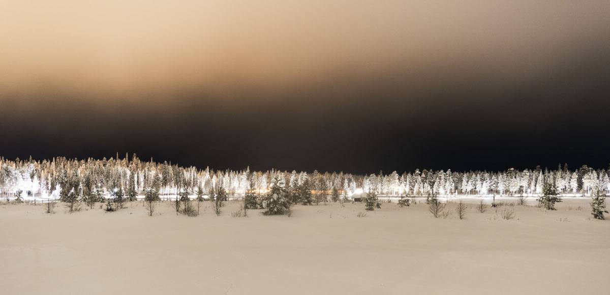 salla lapland night lights