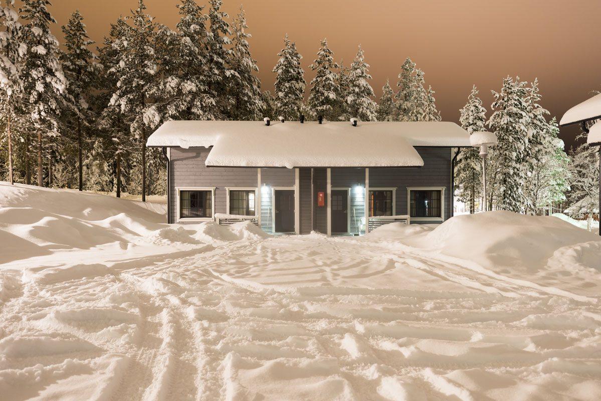 salla cabin snow
