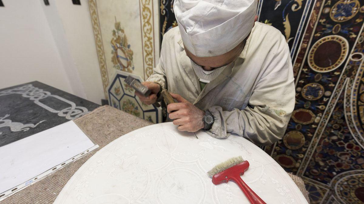 simone fiordelisi mosaico fiorentino carving