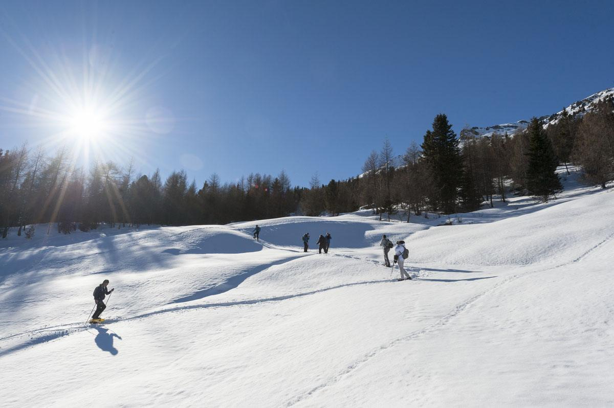 valdidentro italy snowshoeing