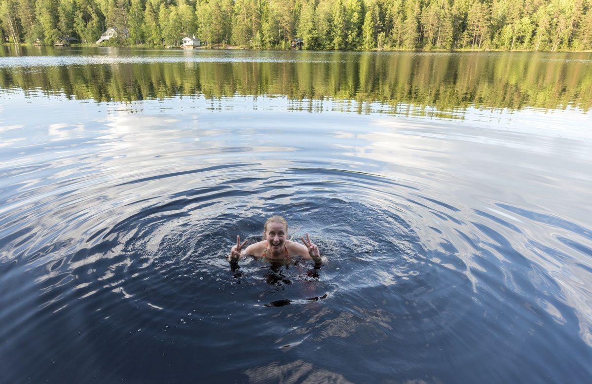 hawkhill nature lake swim
