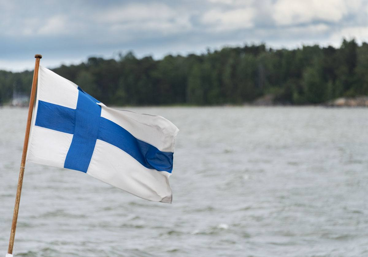 helsinki islands finnish flag