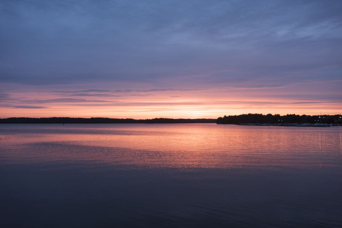 lohja finland lake sunset blue
