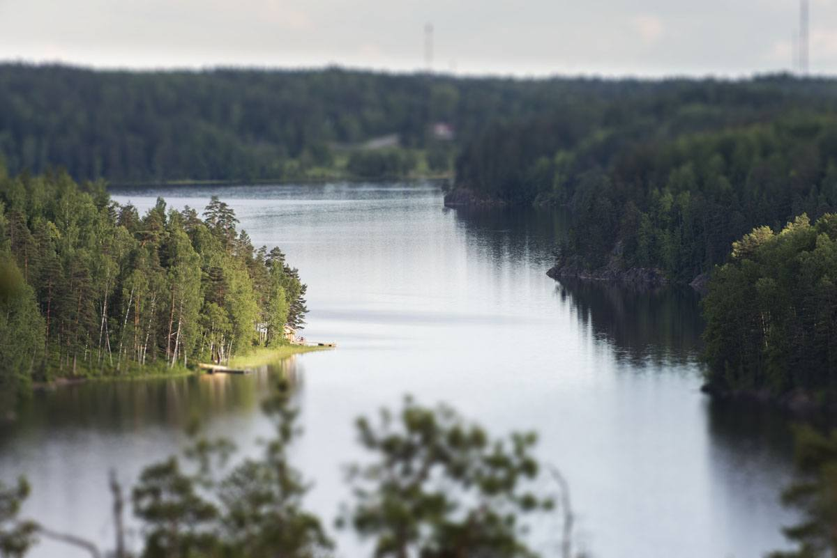 nuuksio lake above close
