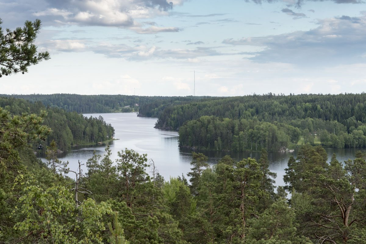 nuuksio lake above