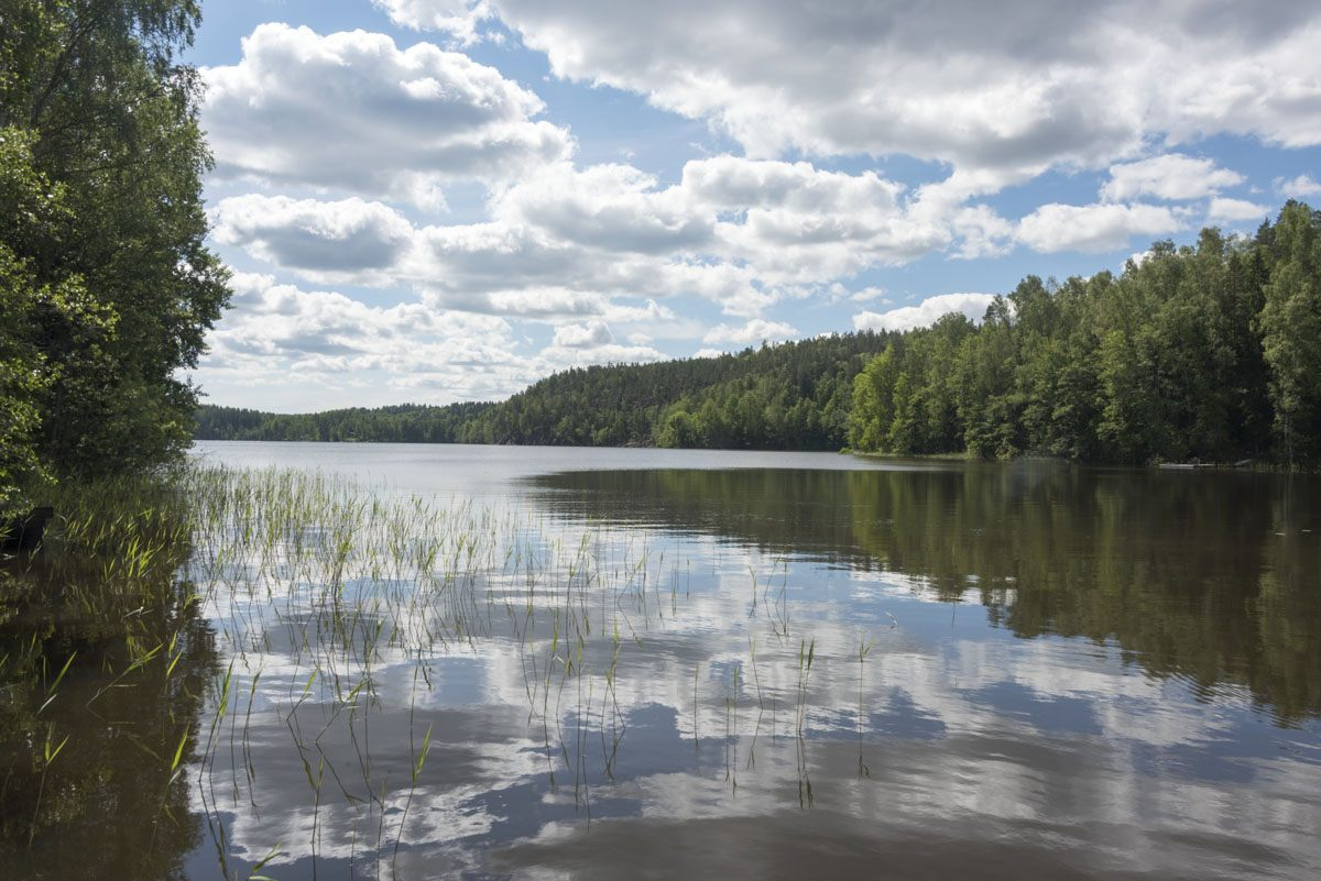 nuuksio lake clouds