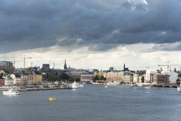 stockholm skyline storm