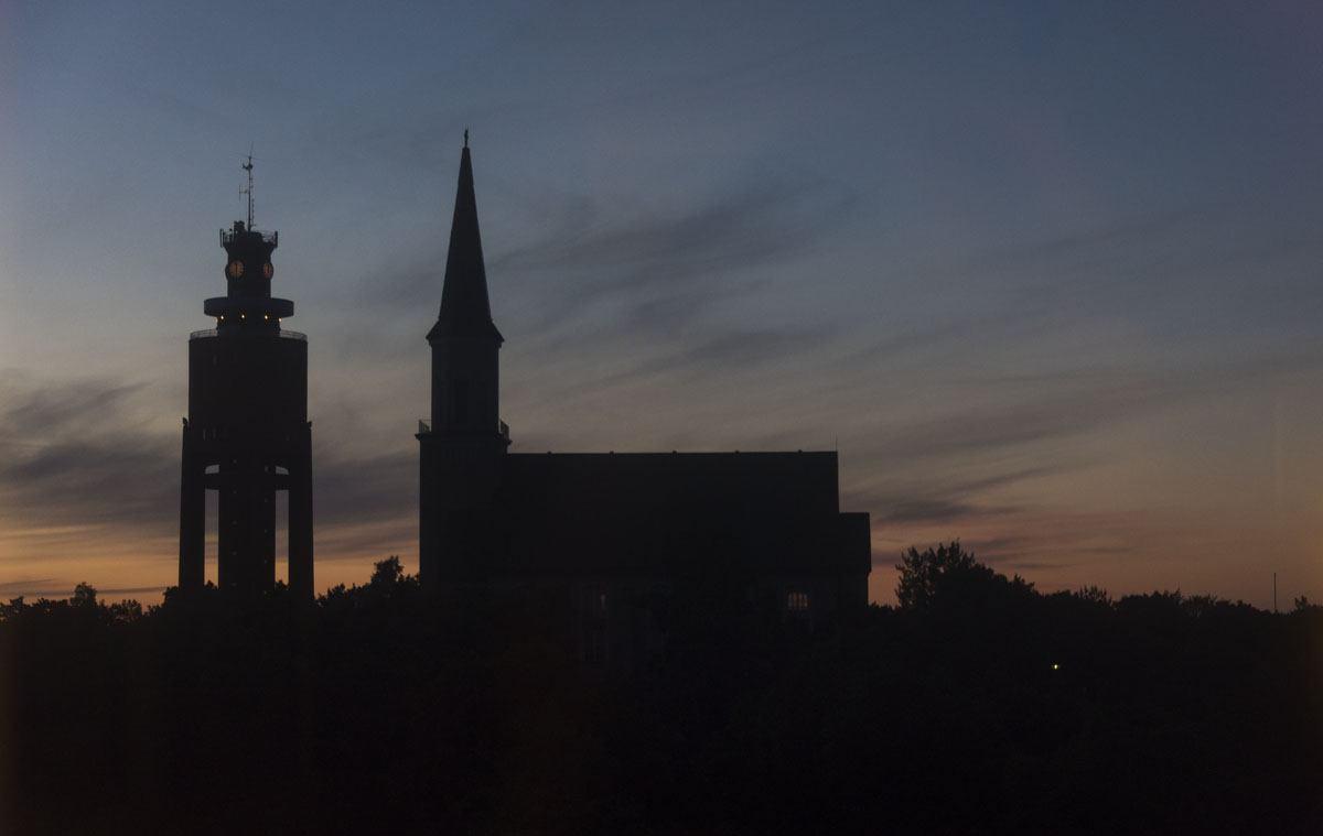 hanko-finland-watertower-church-sunset