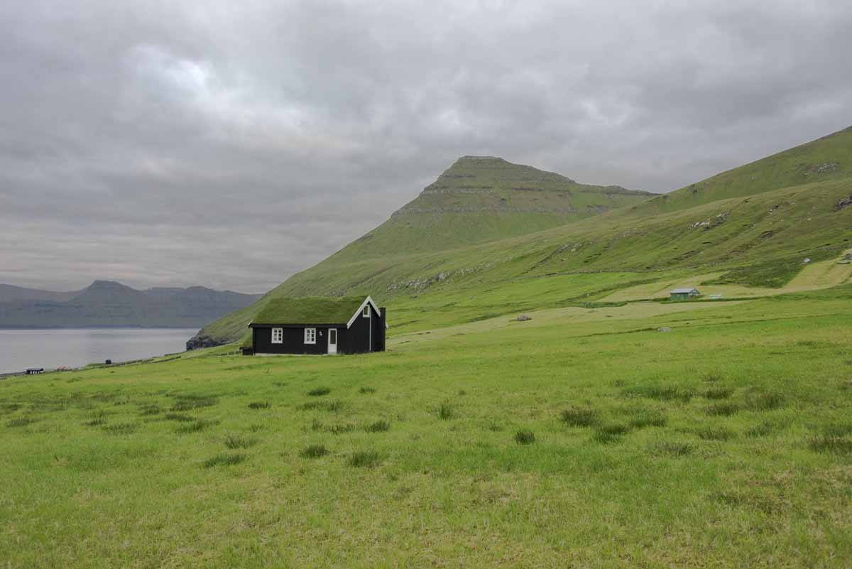 faroe islands grass house