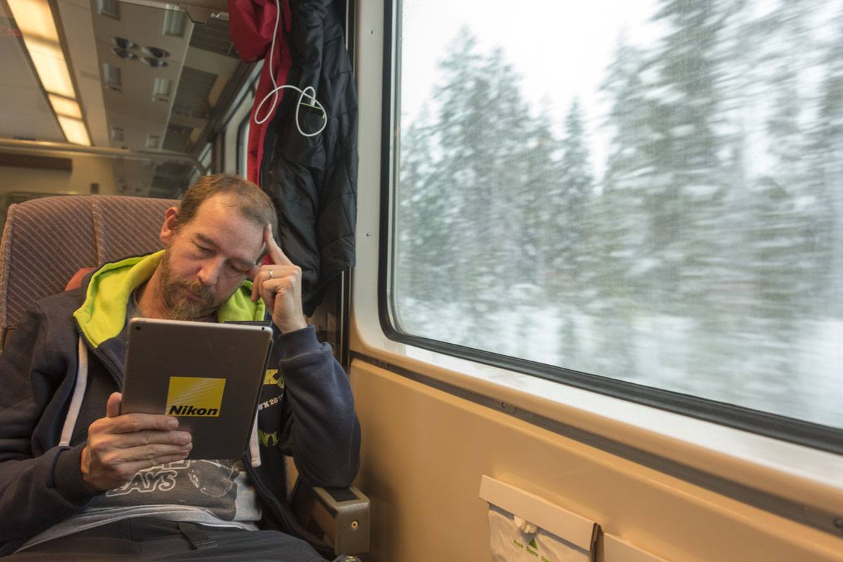 Finland nick on train
