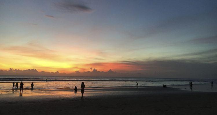 seminyak bali indonesia sunset
