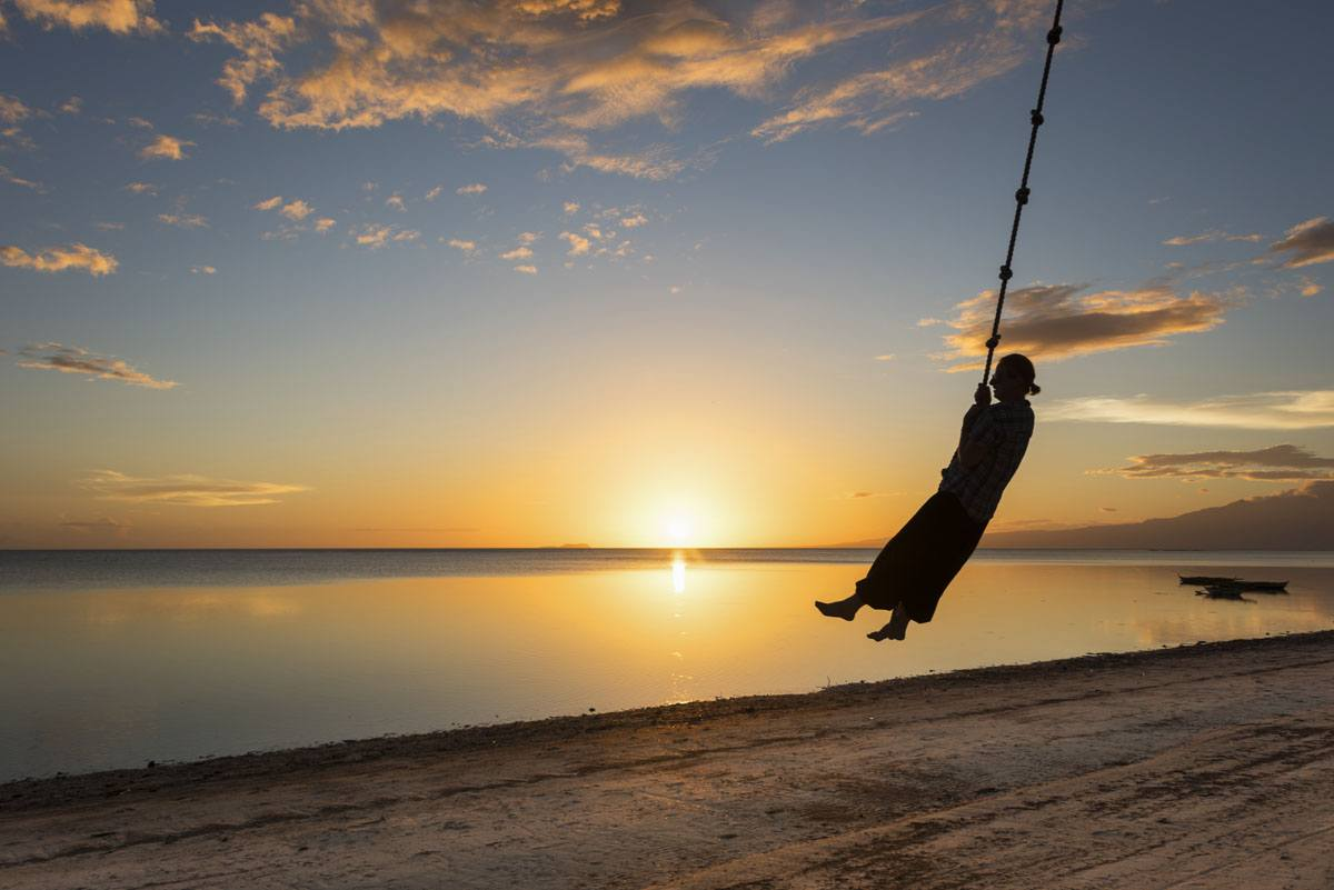 siquijor tourist spots beach sunset