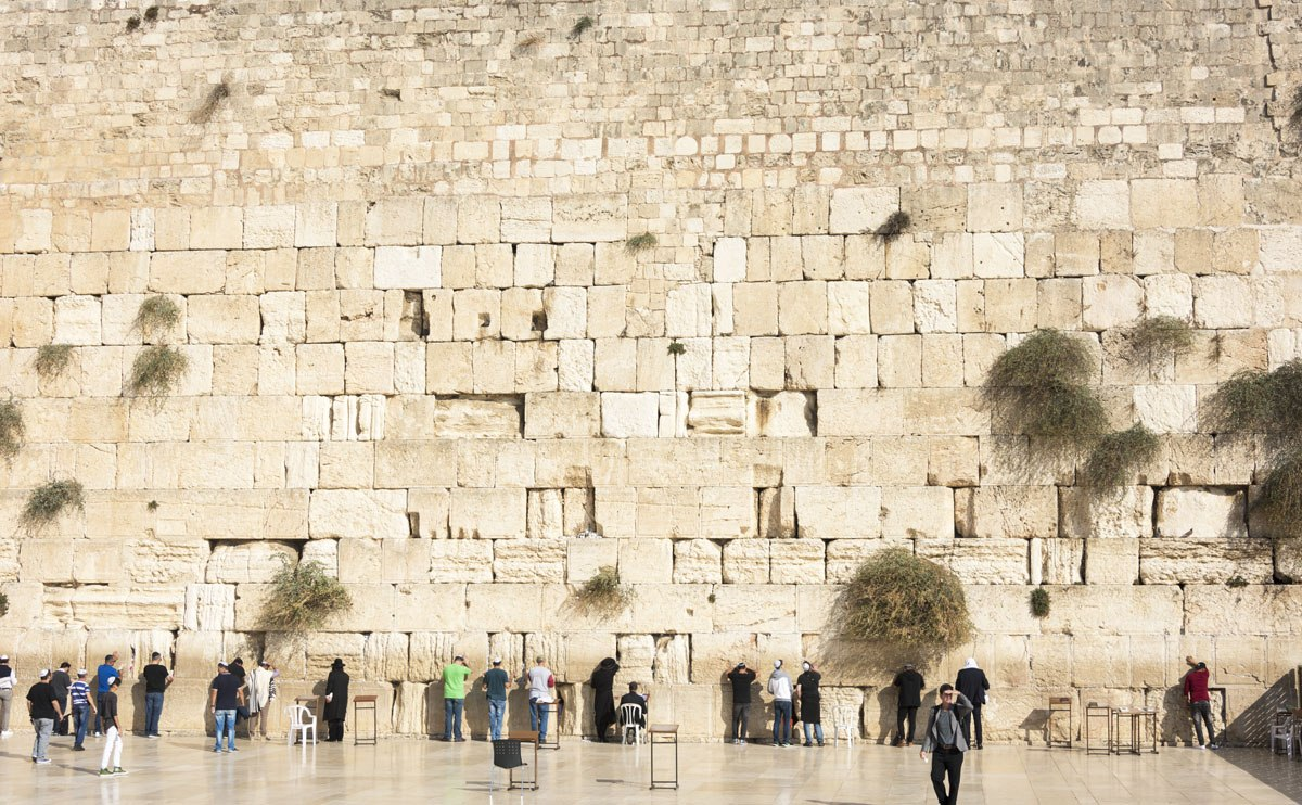 western wall praying