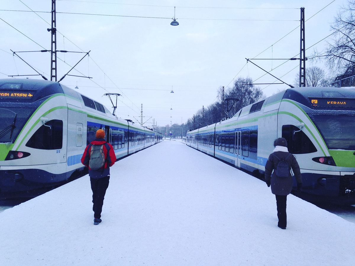 europe train travel in winter