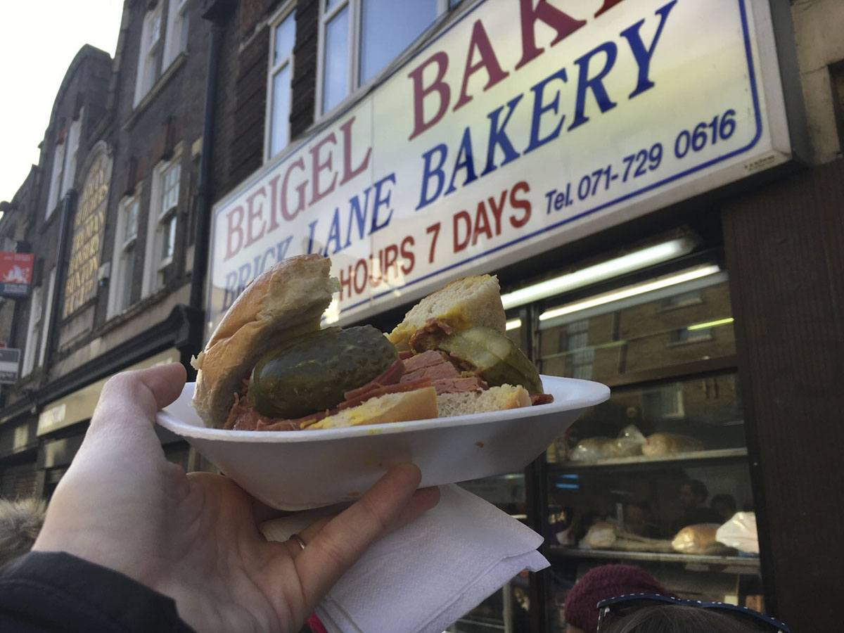london food tour bagel