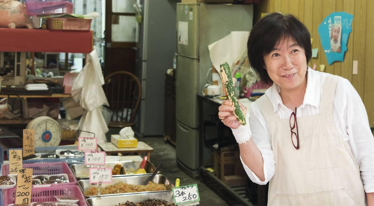 tokyo happy cucumber lady
