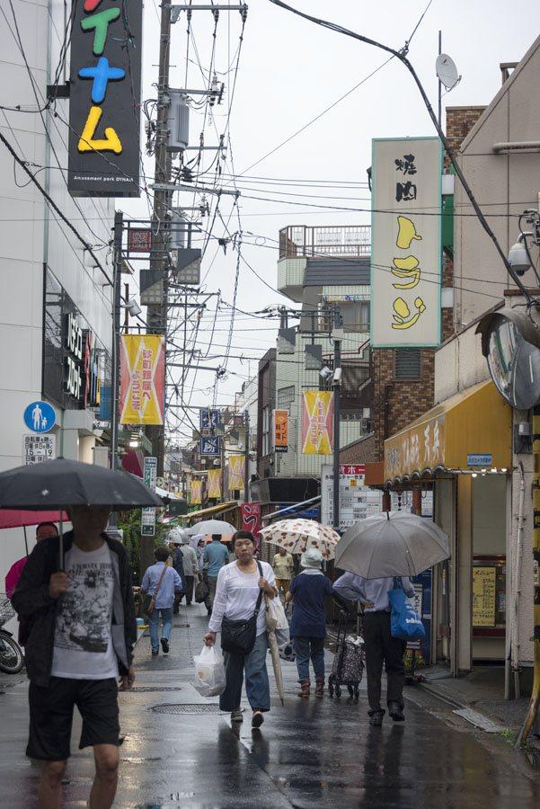 tokyo sunamachi rainy