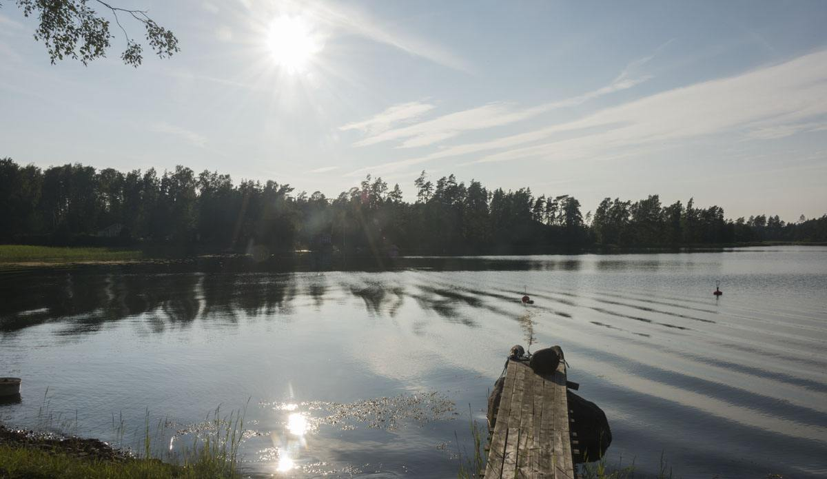 finland archipelago lake sun