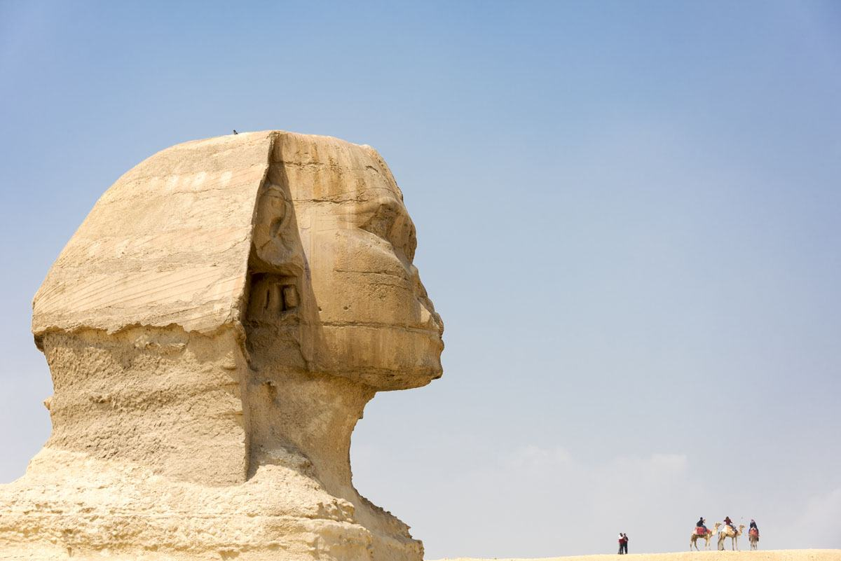 sphinx view giza egypt