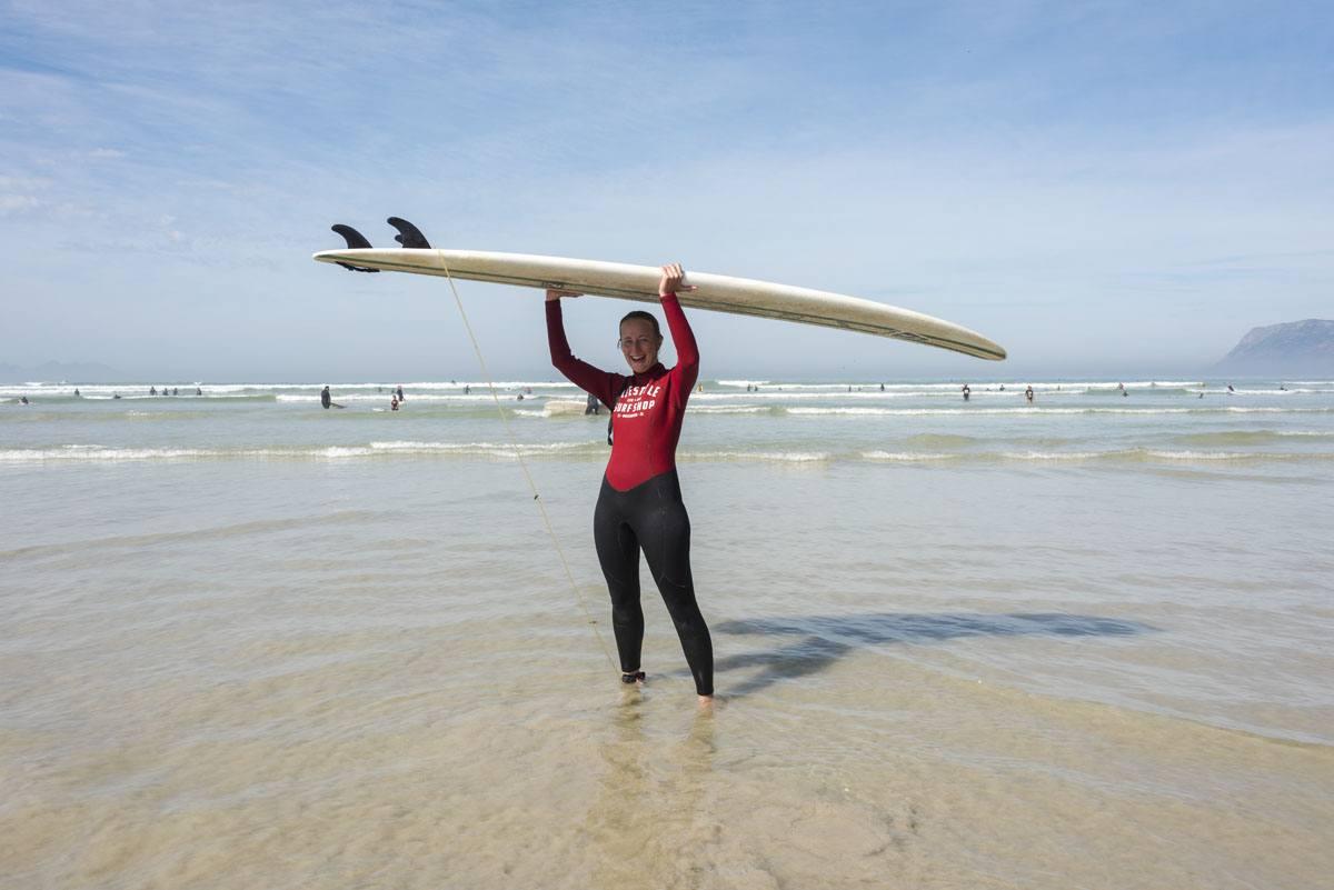 muizenberg cape town surfer