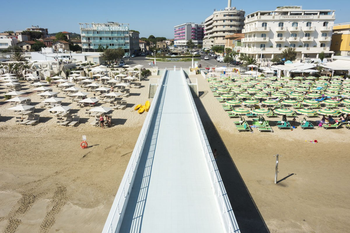 senigallia beach above