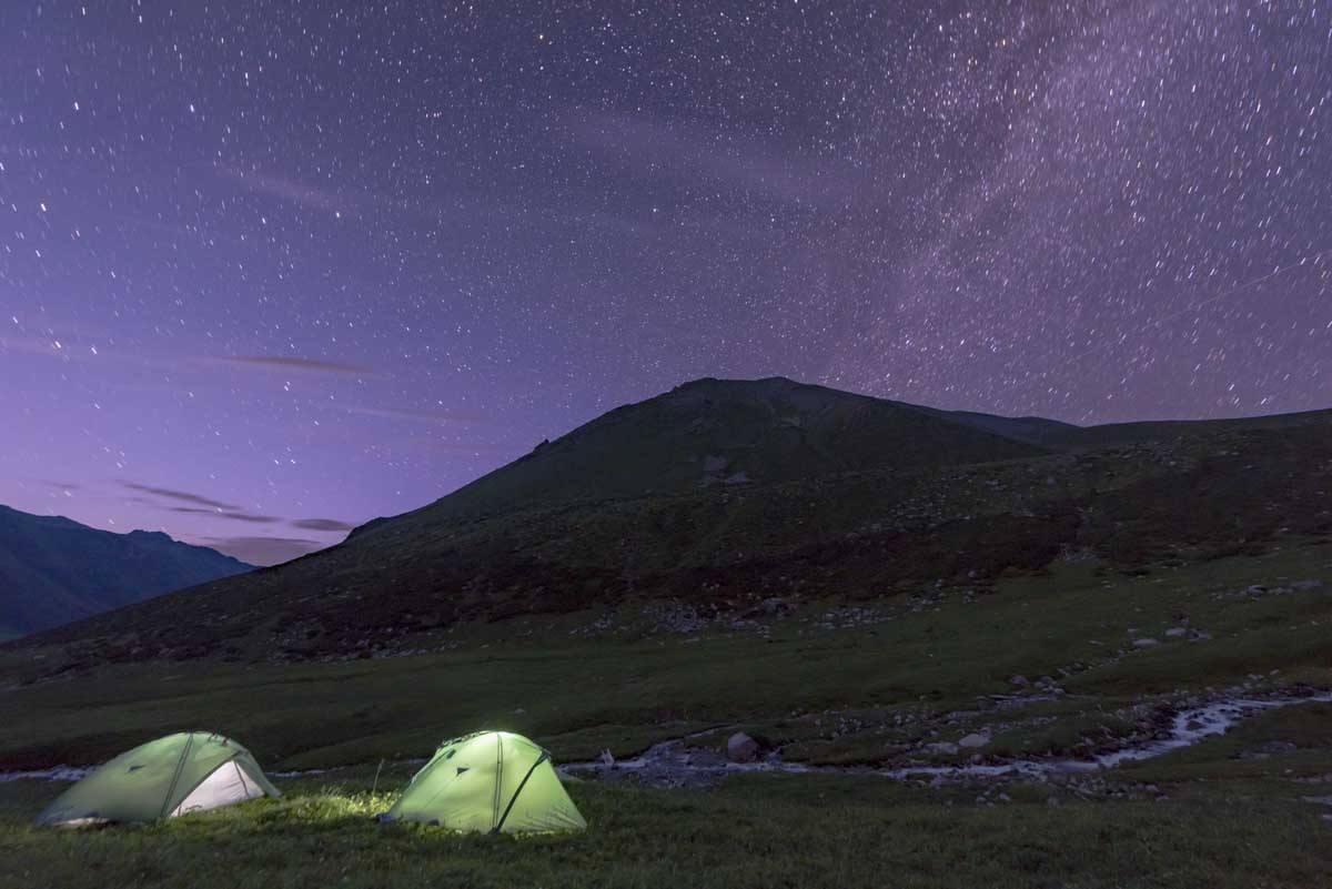 kyrgyzstan night sky
