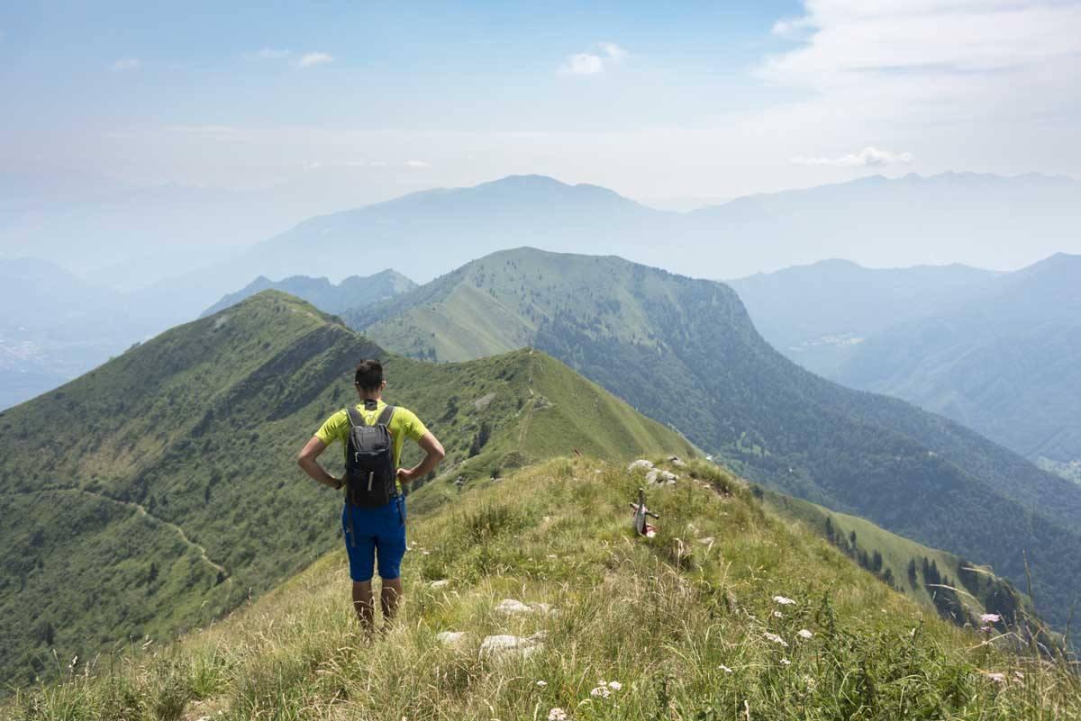 hiking trentino mountains