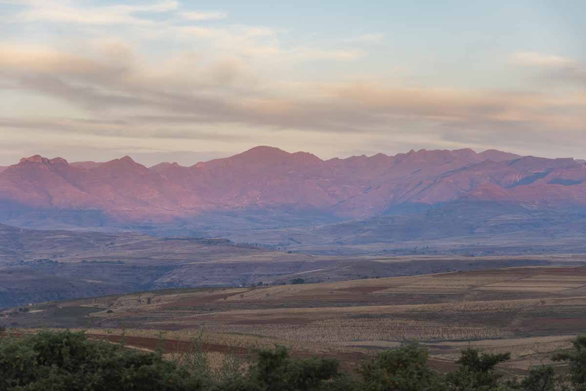 3 days in lesotho sunset