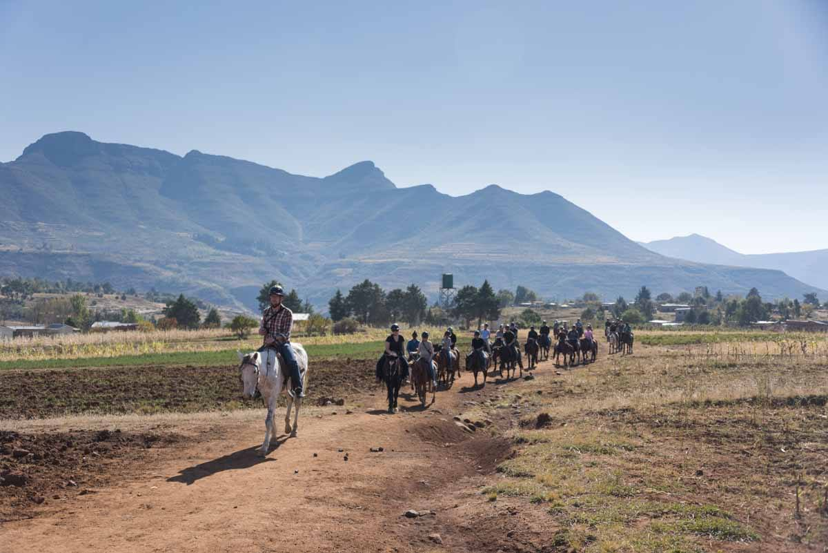 lesotho malealea pony trekking