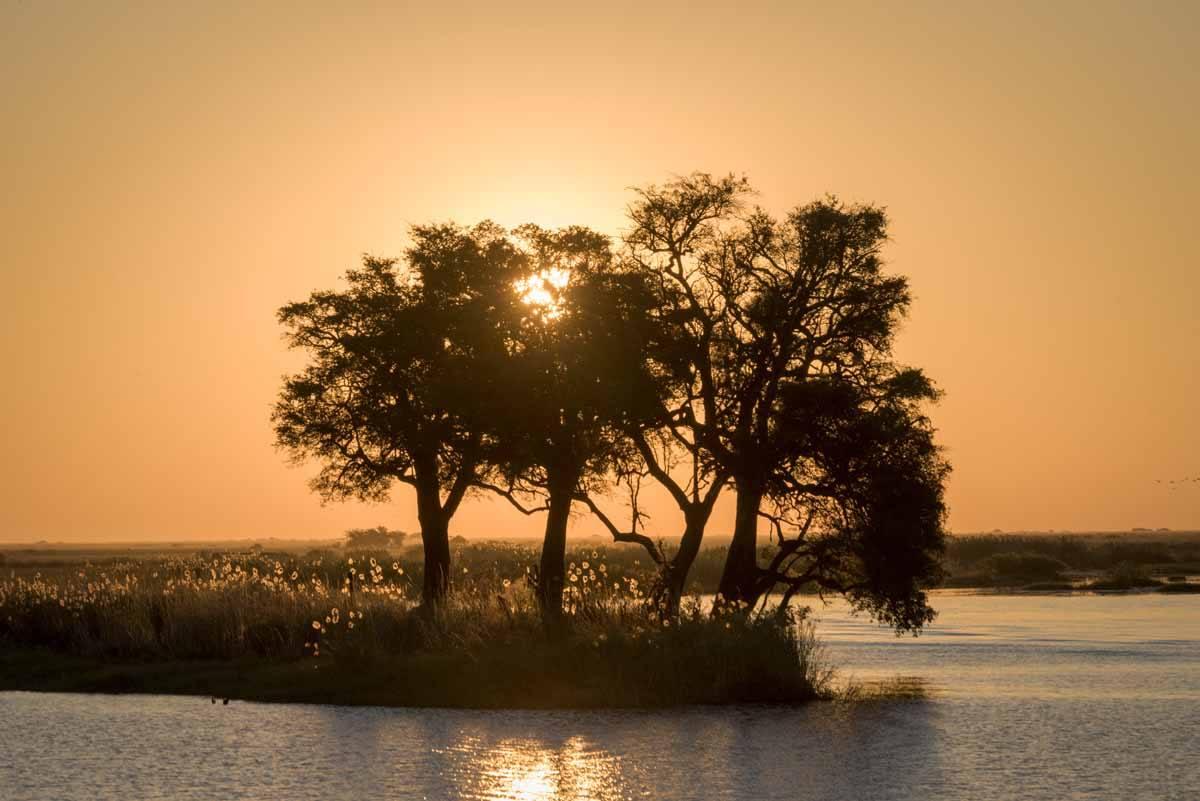 chobe botswana sunset