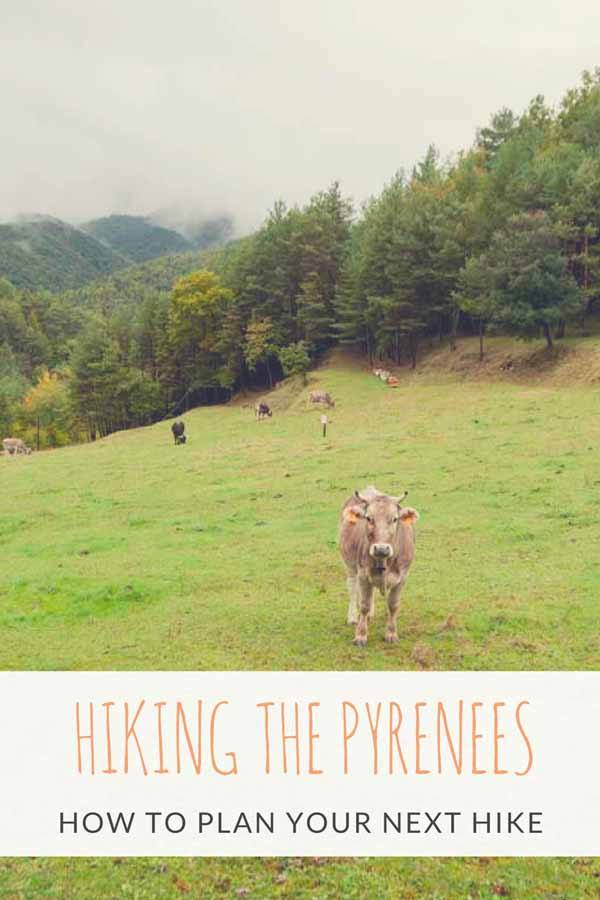 hiking girona pyrenees pin