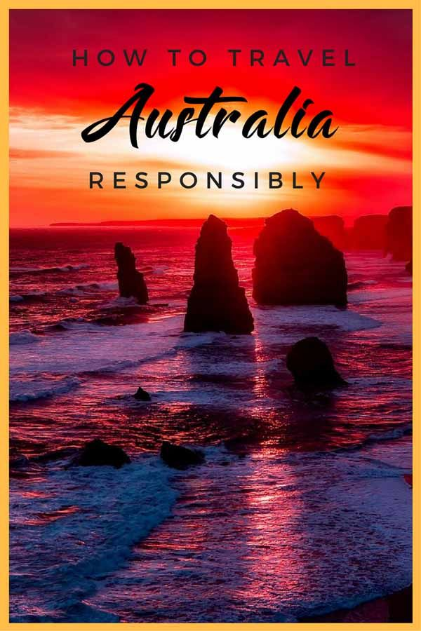 australia responsible travel pin