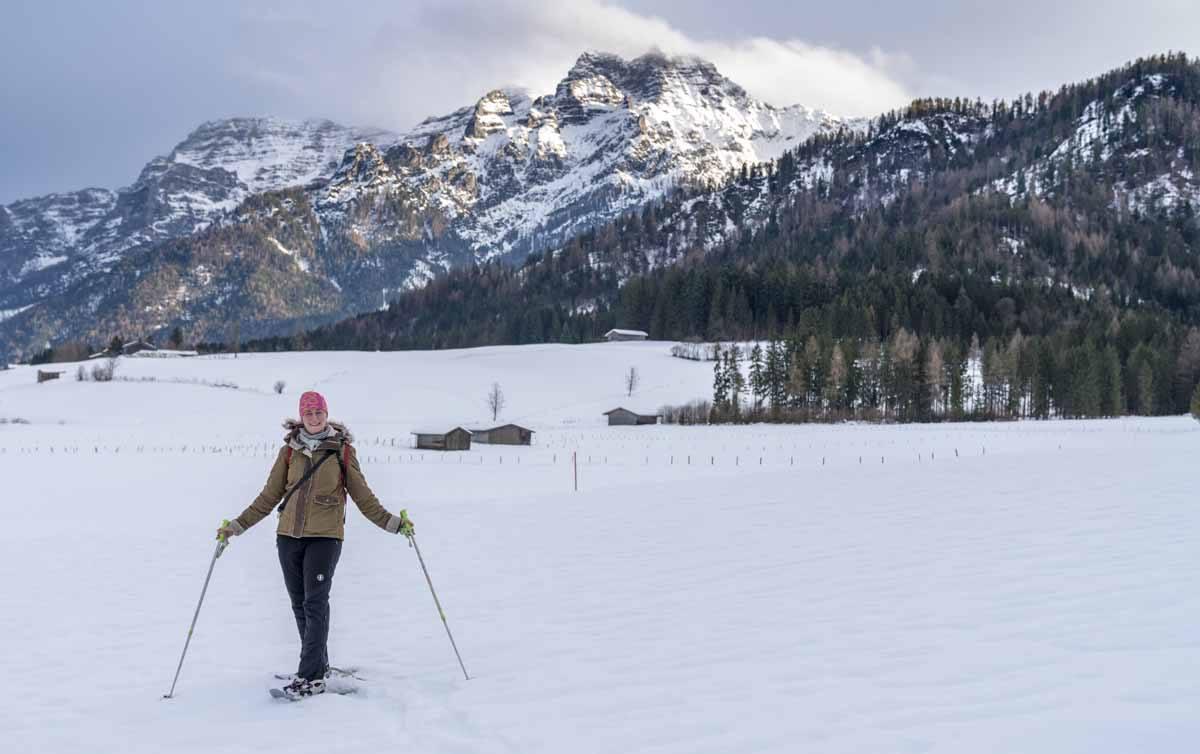 snowshoeing austria winter
