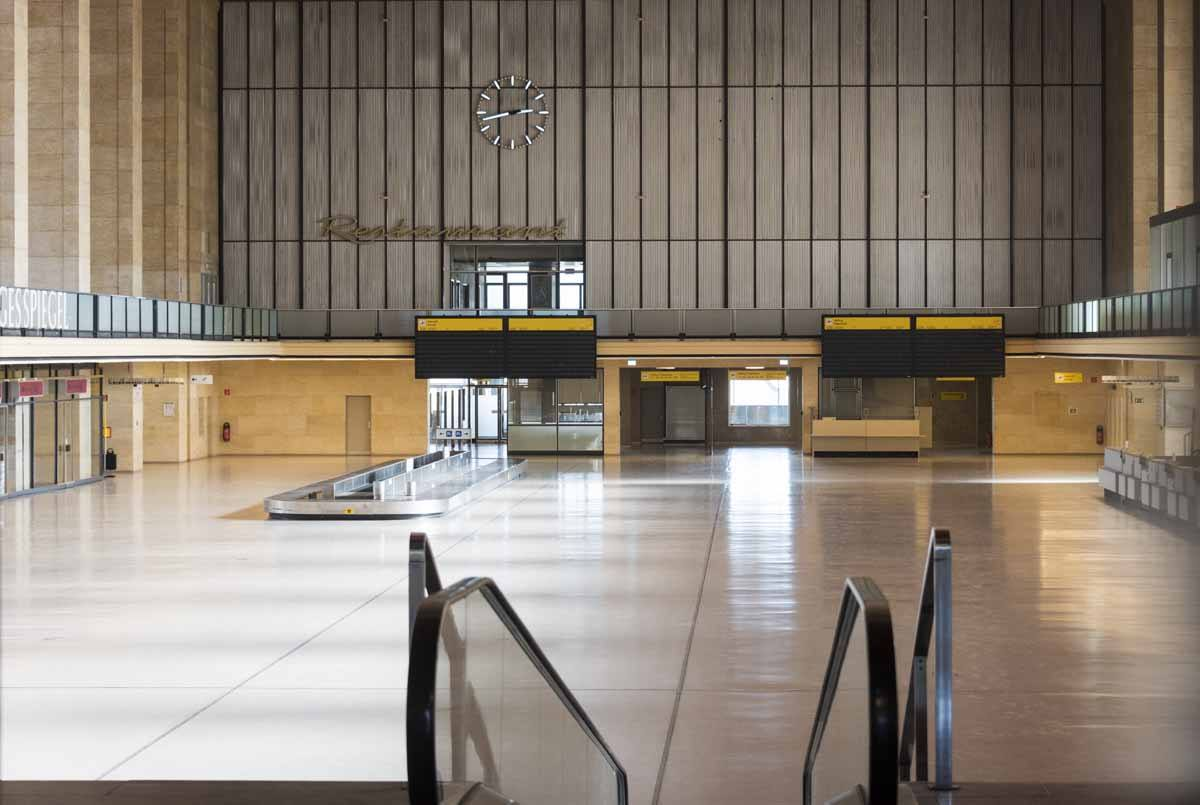 tempelhof airport inside winter berlin