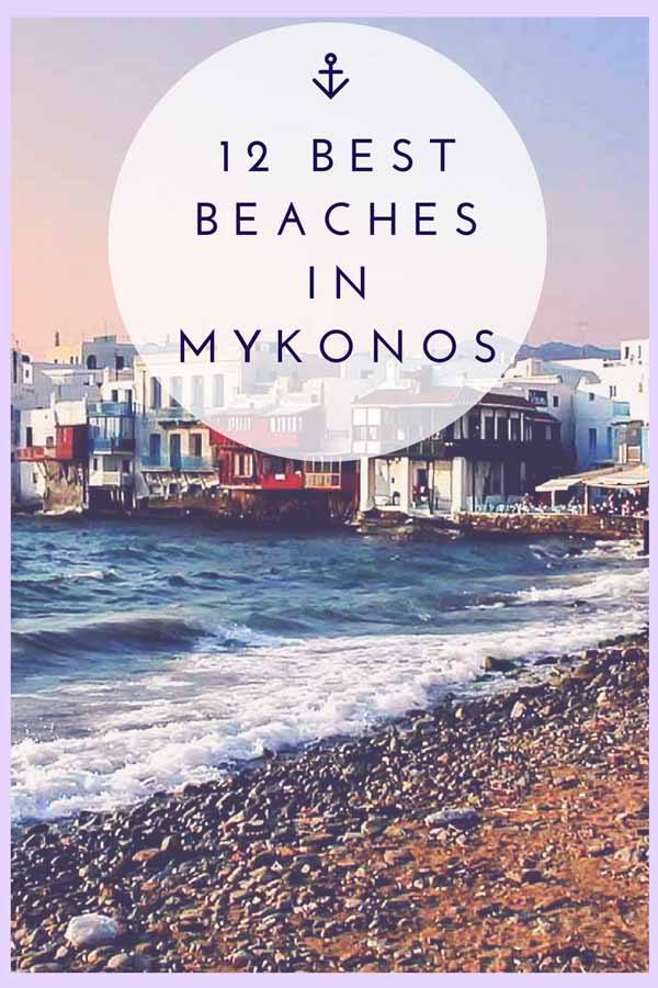 mykonos beaches pin