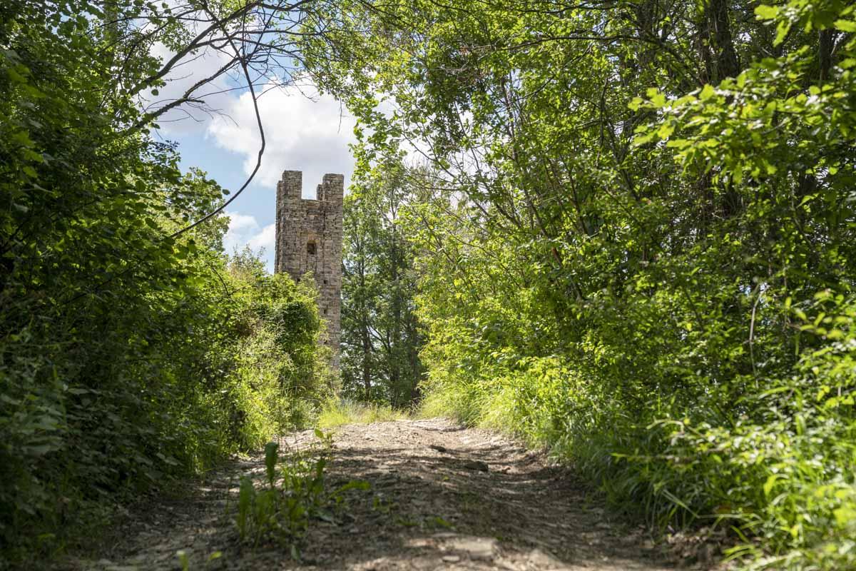 stone tower emilia romagna apennines
