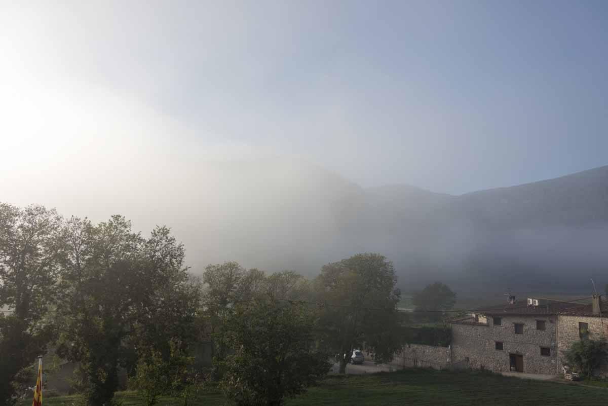 foggy mountains girona province