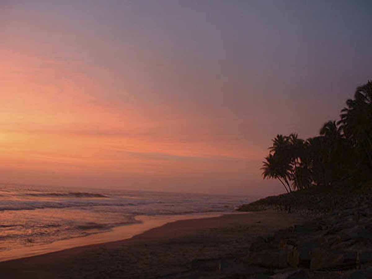sunset varkala kerala