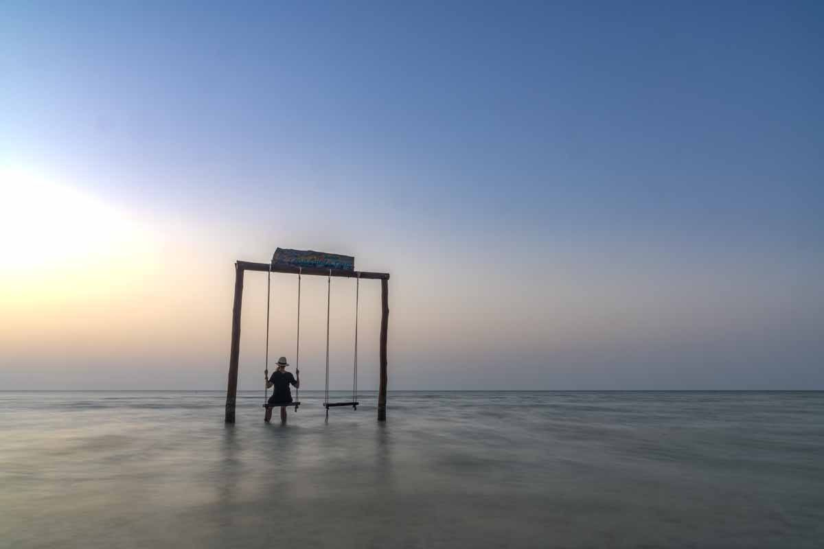 holbox sunset swing