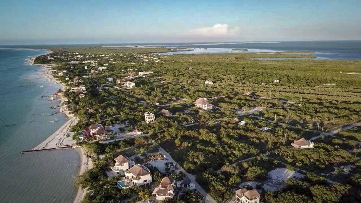 isla holbox aerial view mexico