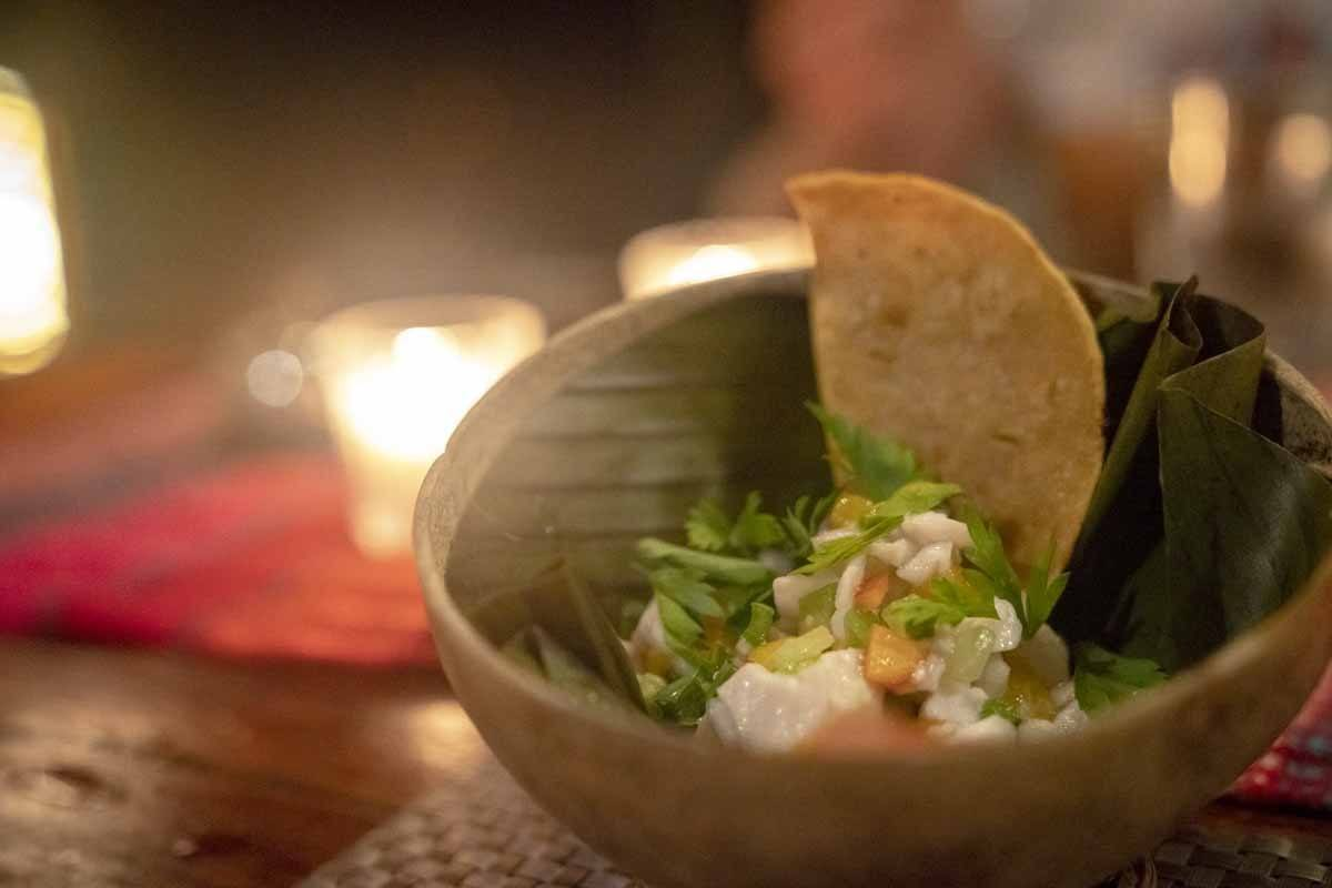 tulum dining experience ceviche