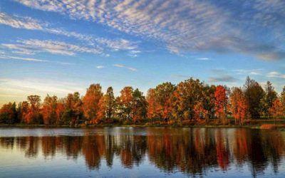 autumn reflections latvia