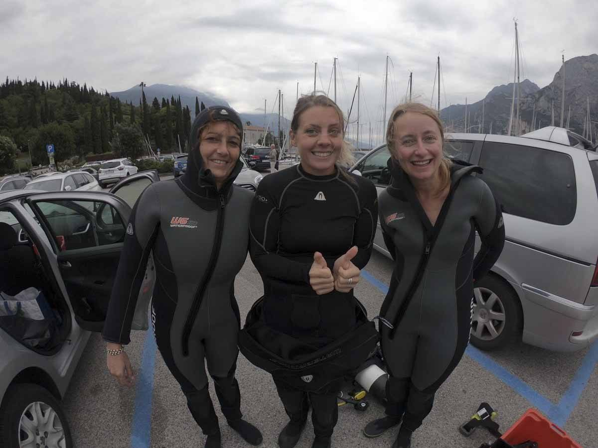 diving lake garda before