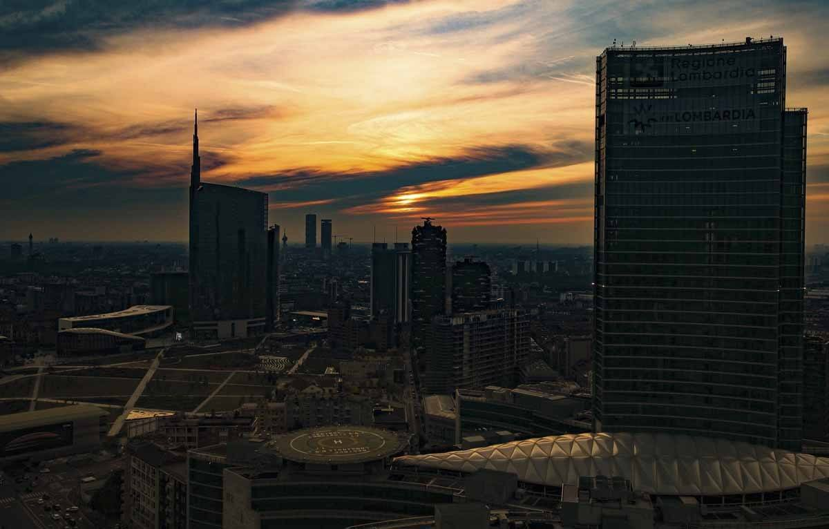 milan sunset best view
