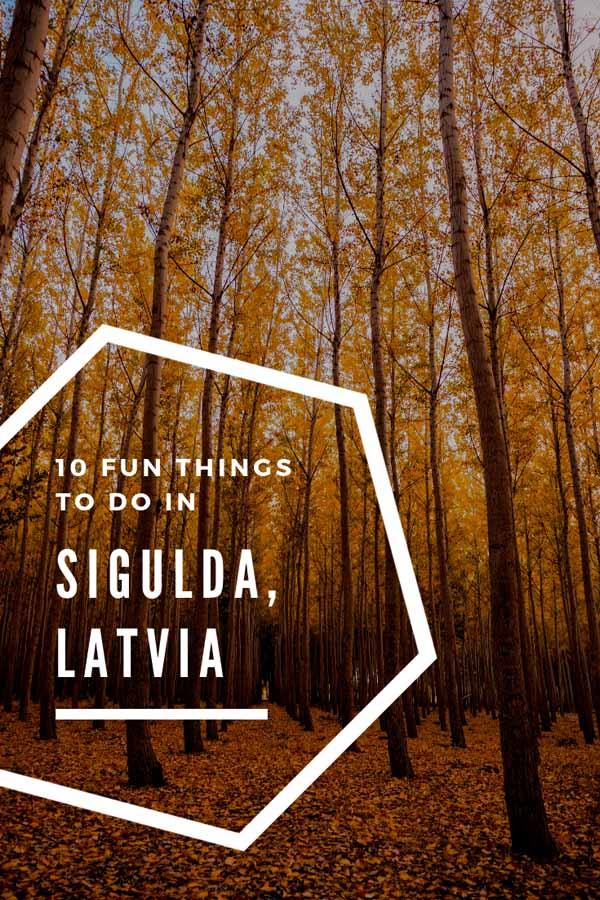 autumn sigulda latvia