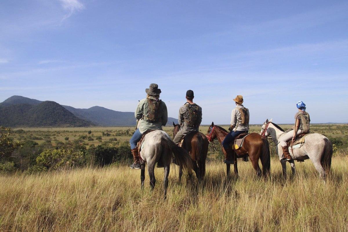 horse riding guyana on hill