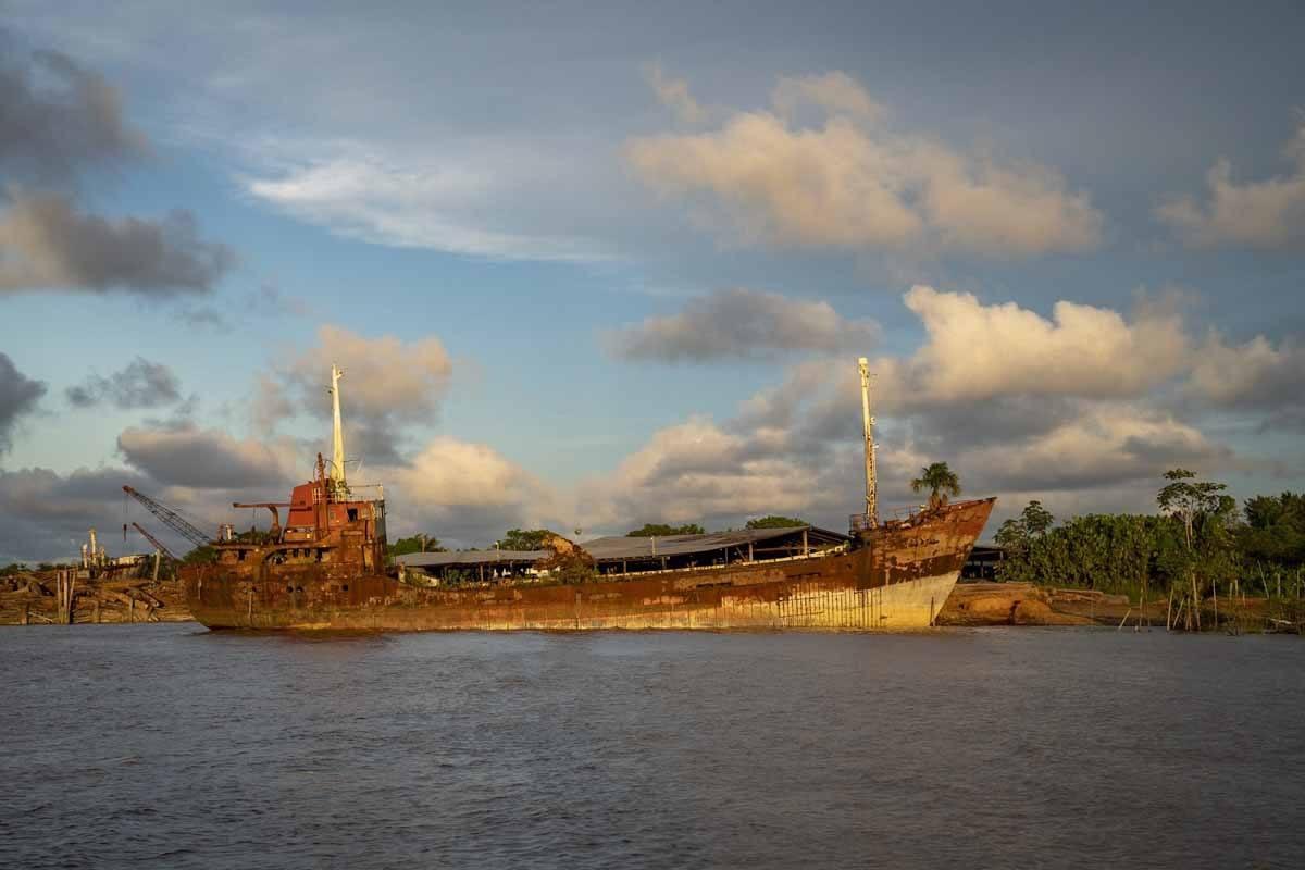 rusty boat guyana
