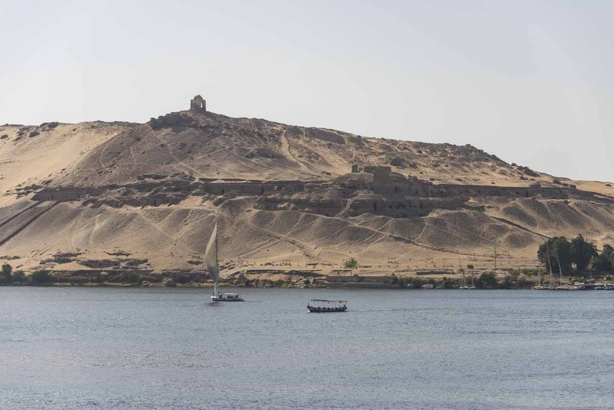 aswan crossing nile felucca
