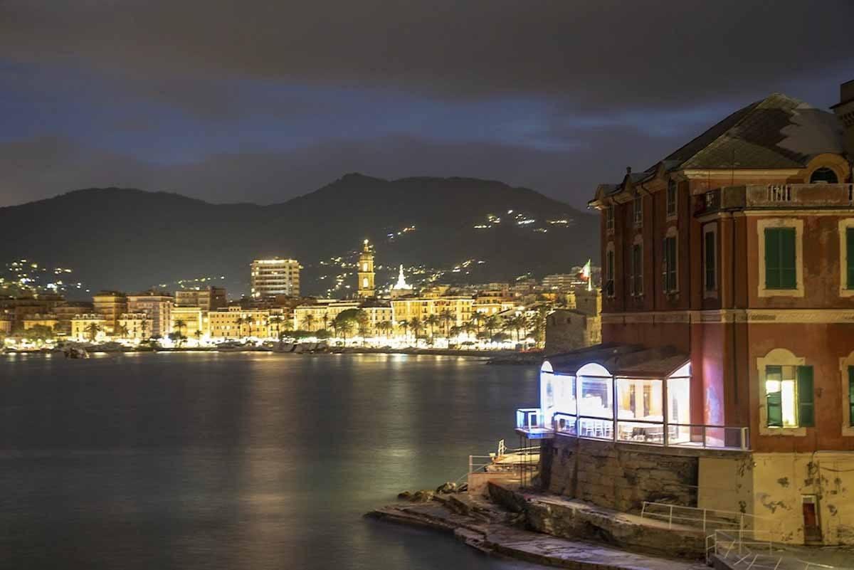 rapallo italy night lights